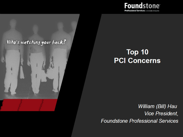 Top 10 PCI Things to Think About
