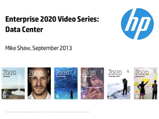 Enterprise 2020 Video Series: Data Center