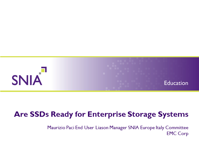 Italian: The Benefits of Solid State in Enterprise Storage Systems
