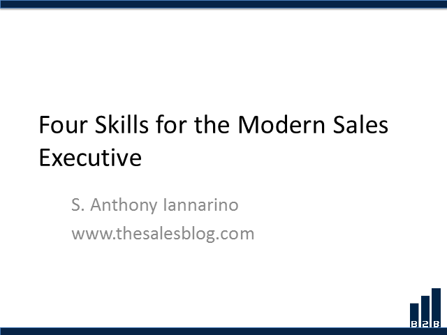 The 4 Critical Skills for the Successful Modern Salesperson