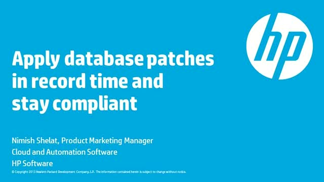 Apply database patches in record time and stay compliant