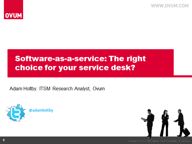 Software-as-a-Service: The right choice for your service desk?