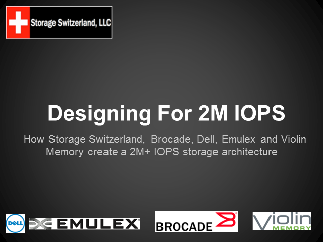 How To Design a 2 Million IOPS Storage Architecture