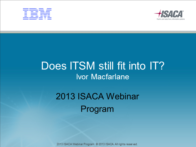 Does ITSM still fit into IT?