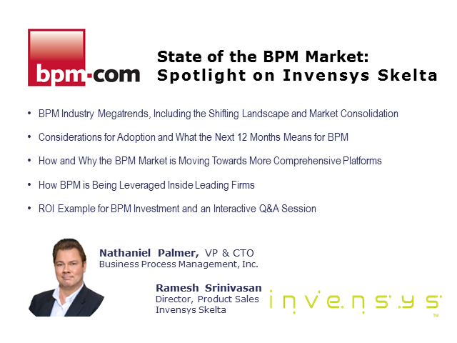 State of the BPM Market Update: Spotlight on Invensys Skelta