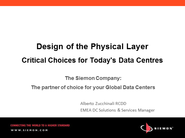 Design of the Physical Layer