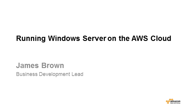 Running Windows Server on the AWS Cloud