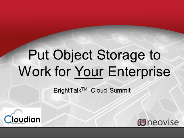 Object Storage: How Can it Work for You?