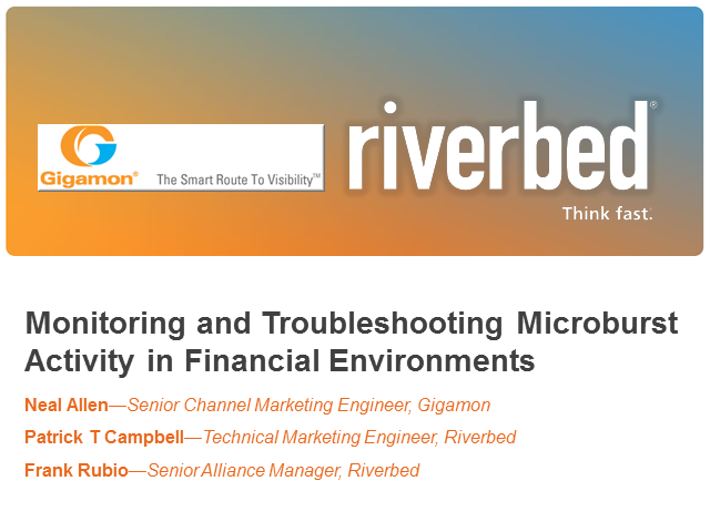 Monitoring and Troubleshooting Microburst Activity in Financial Environments