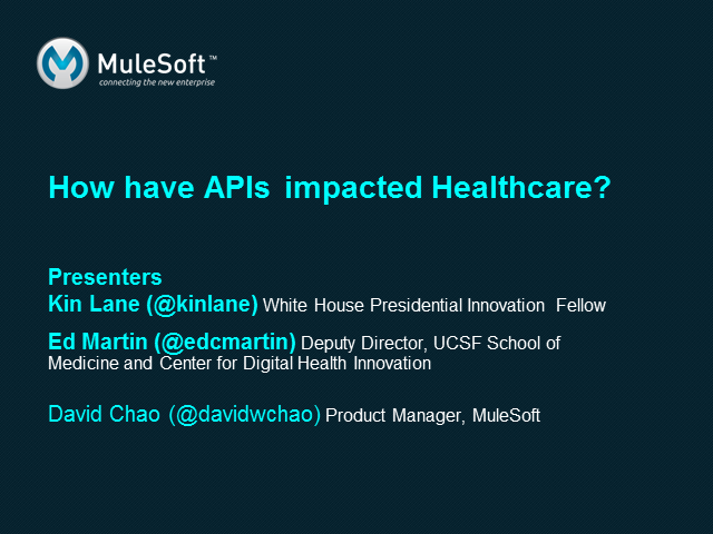 The Impact of APIs in Healthcare
