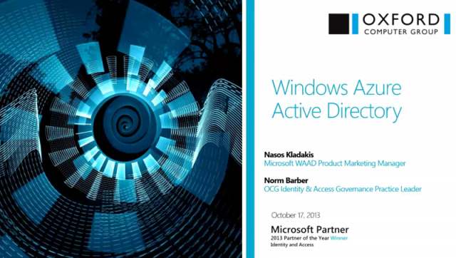 Windows Azure Active Directory: Full Steam Ahead
