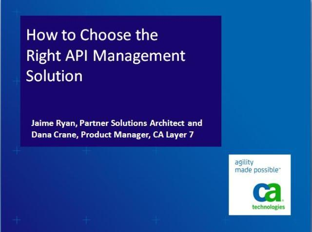 How to Choose the Right API Management Solution