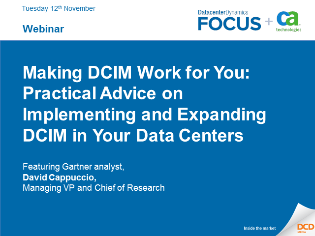 Making DCIM Work for You: Practical Advice on Implementing and Expanding DCIM