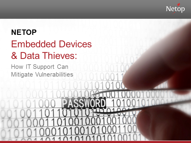 Embedded Devices & Data Thieves: How IT Support can Mitigate Vulnerabilities