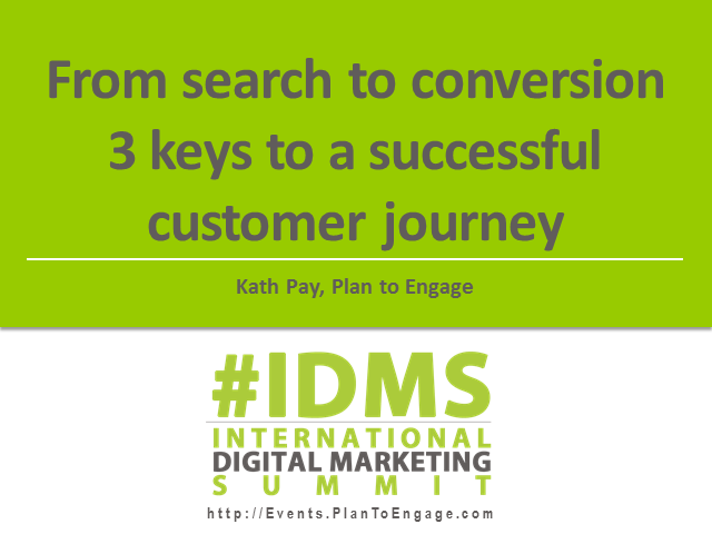 From search to conversion - 3 keys to a successful customer journey