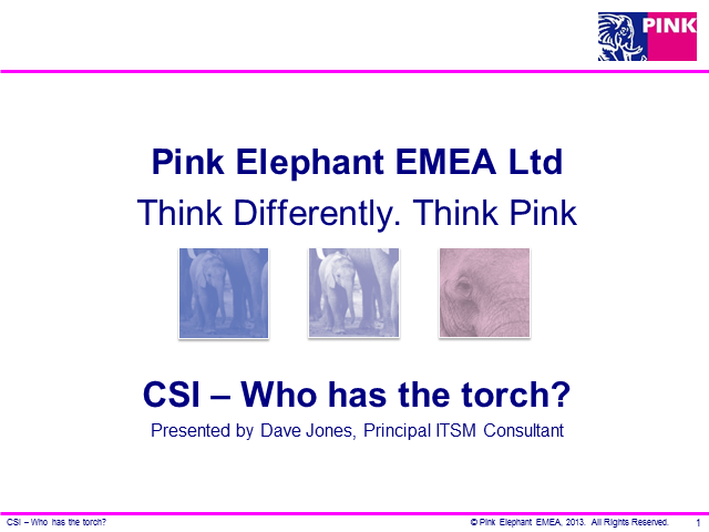 CSI - Who has the torch?