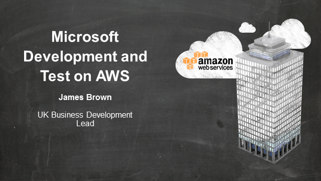 Development and Test for the Microsoft platform on AWS