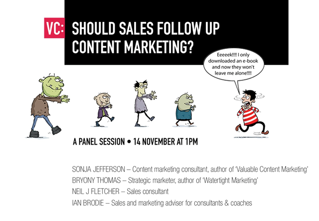 Panel session: Should Sales Follow Up Content Marketing?
