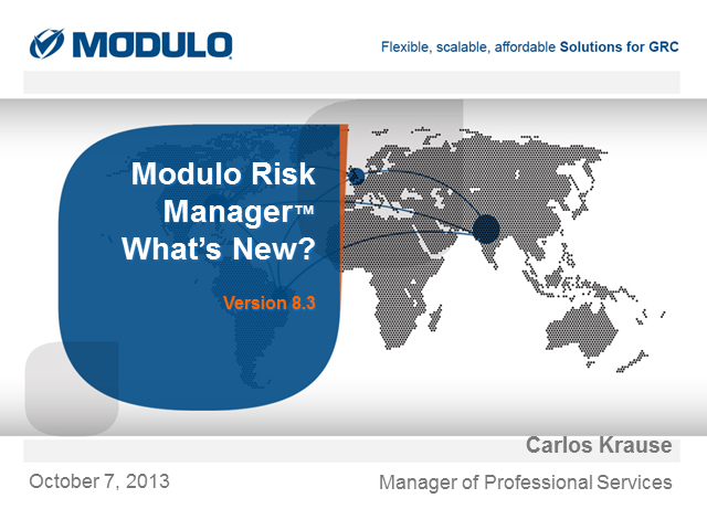 Modulo Risk Manager: What's New v8.3