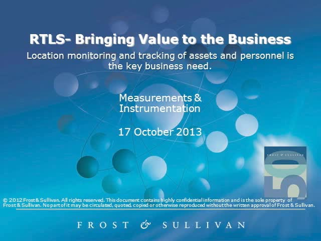 RTLS: Bringing Value to the Business