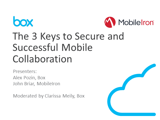 The 3 Keys to Secure and Successful Mobility