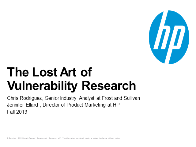 The lost art of vulnerability research