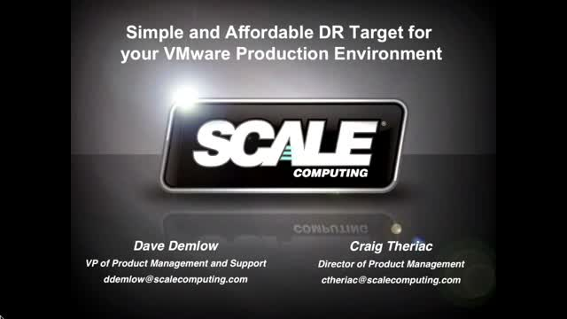 Designing an affordable DR Target for your VMware production environment