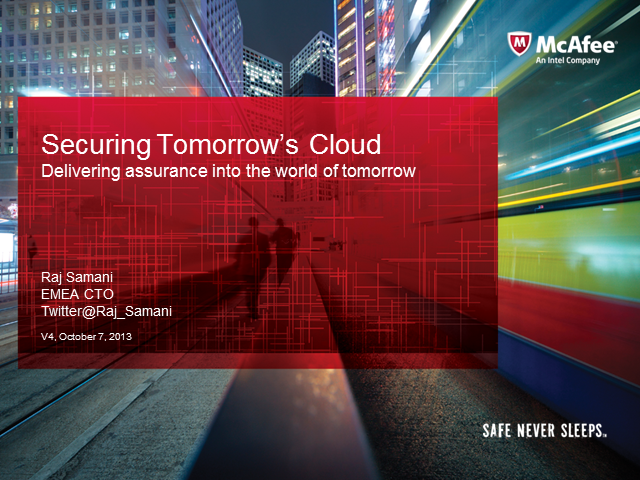 Securing the Cloud of Tomorrow