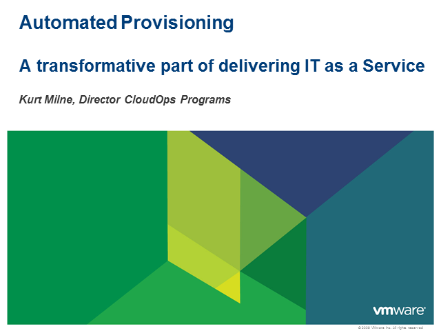 Automated Provisioning - A Transformative Part of Delivering IT as a Service