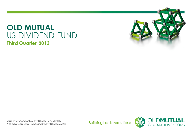Old Mutual US Dividend Quarterly Update