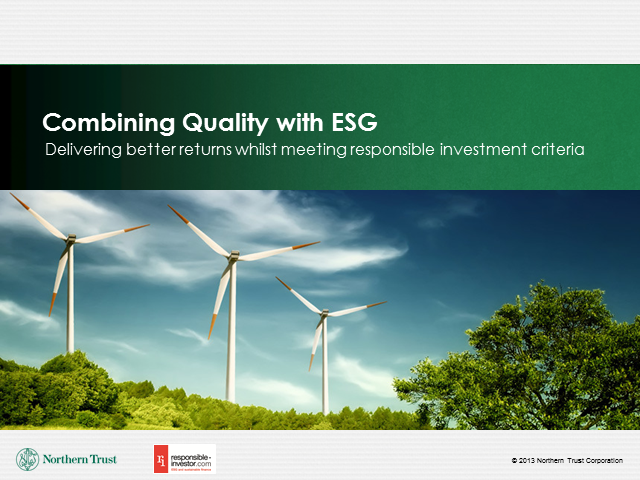 Combining Quality With ESG