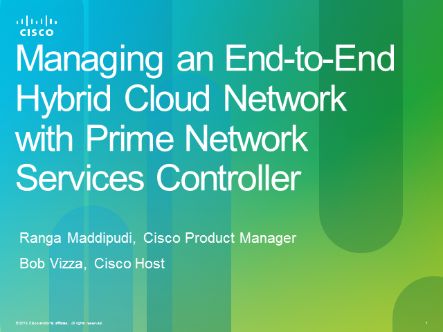 Managing an End-to-End Hybrid Cloud Network