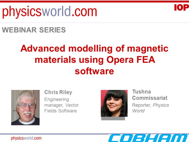 Advanced modelling of magnetic materials using Opera FEA software