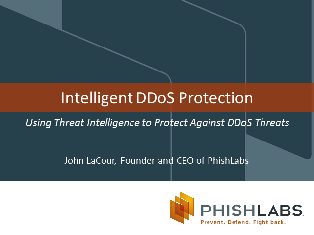 Using Threat Intelligence to Protect Against DDoS Attacks