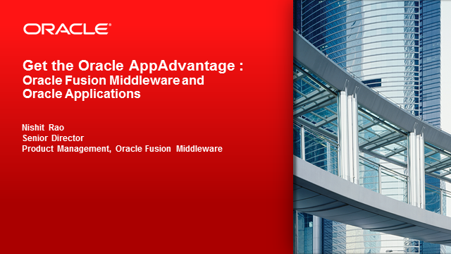 Get the Oracle AppAdvantage