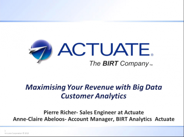 Maximising Your Revenue With Big Data Customer Analytics