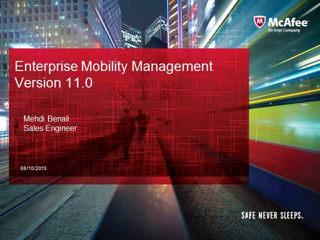 Seminario Online McAfee - Enterprise Mobility Management and enabling B.Y.O.B.