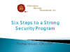 Six Steps To A Strong Security Program