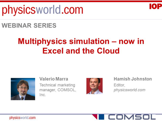 Multiphysics simulation – now in Excel and the Cloud