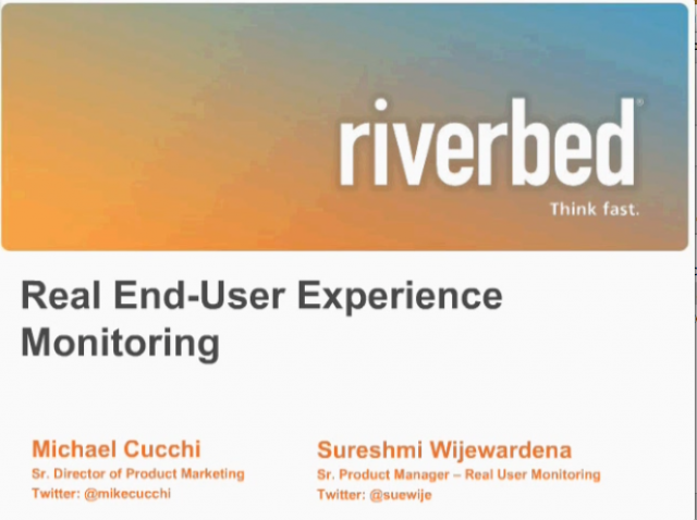 Real End-User Experience Monitoring