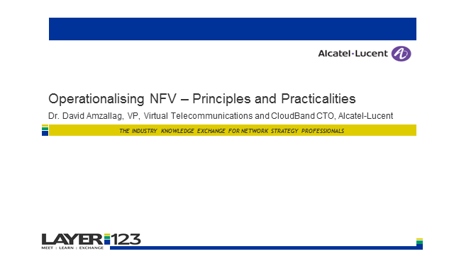 Operationalising NFV – Principles and Practicalities
