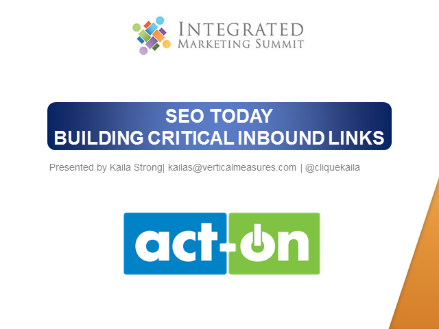 SEO Today: Building Critical Inbound Links