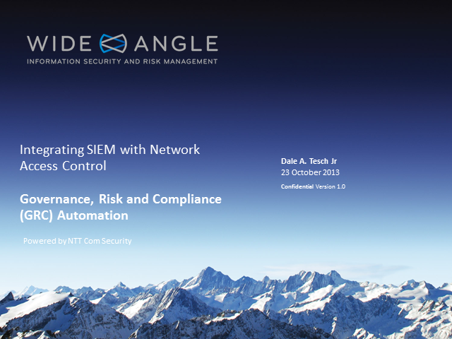 Governance, Risk and Compliance (GRC) Automation