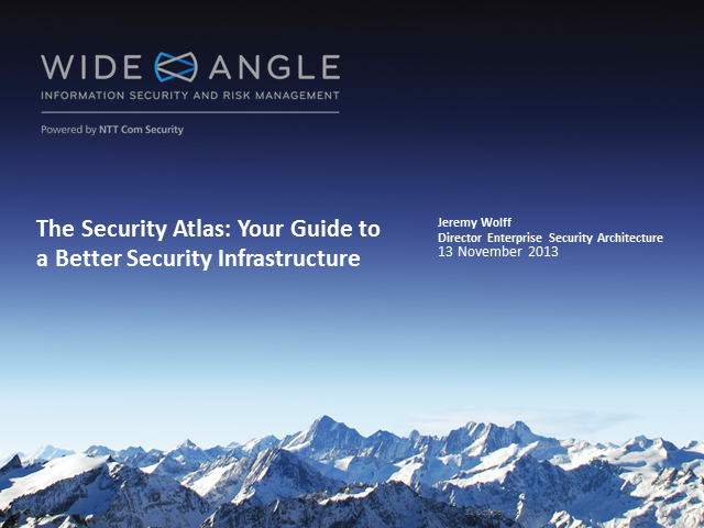 The Security Atlas: Your Guide to a Better Security Infrastructure