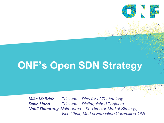 ONF's Open SDN Strategy