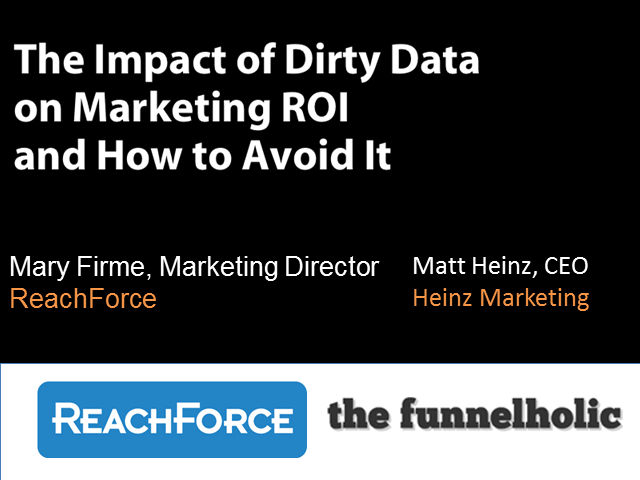 Your ROI's Silent Killer: Dirty Data