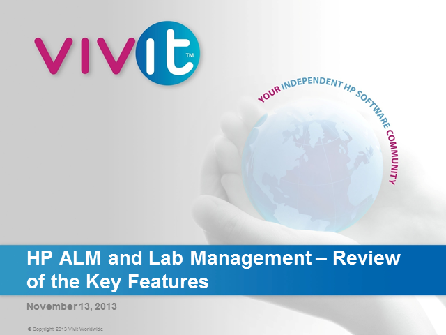 HP ALM Lab Management  -  Review of the Key Features