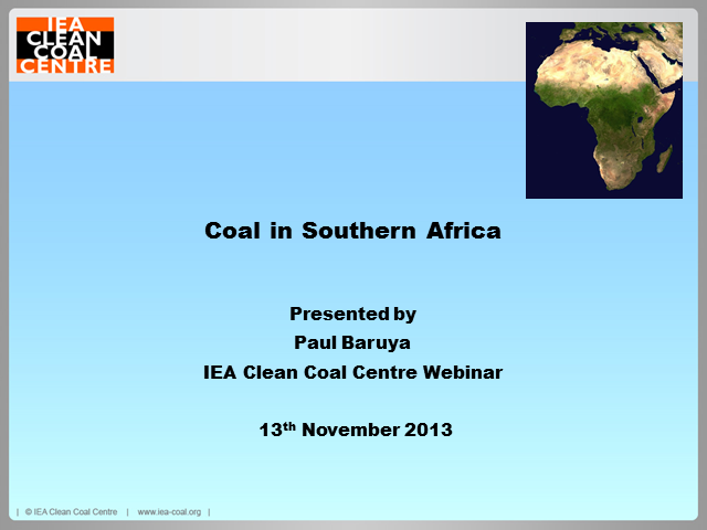 Coal prospects in Southern Africa