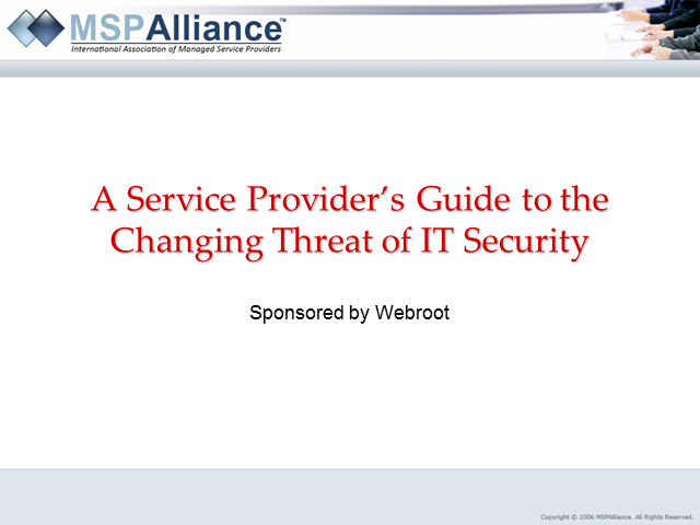 A Service Provider's Guide to the Changing Threat of IT Security
