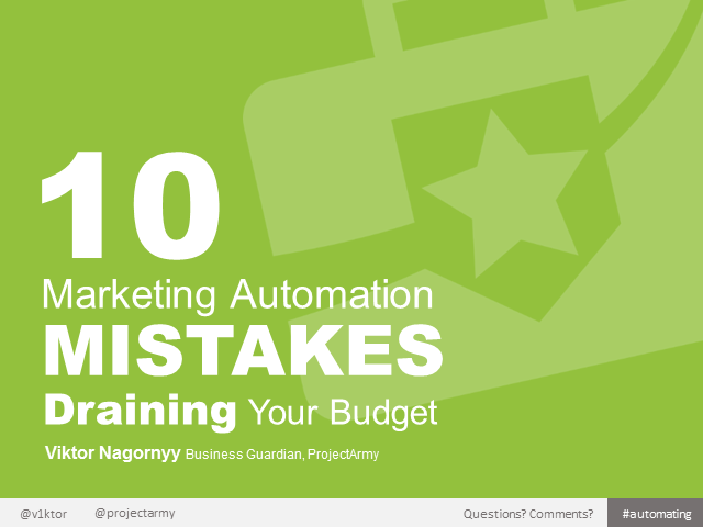 10 Marketing Automation Mistakes Draining Your Budget
